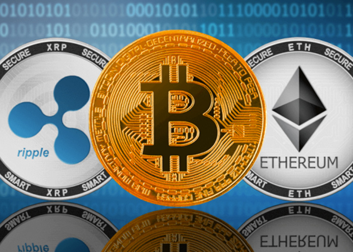 Bitcoin and Ethereum and Ripple XRP